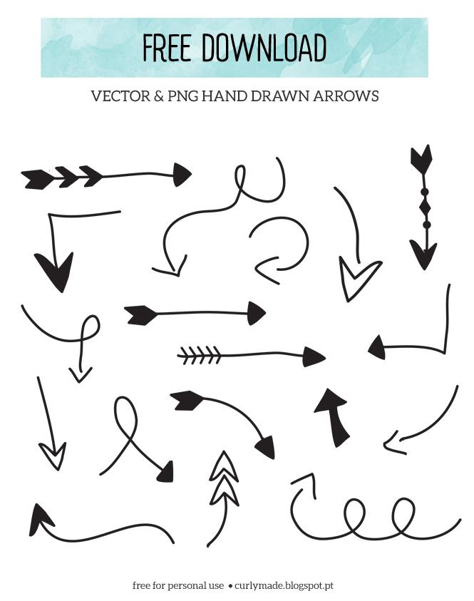 Drawn Arrows   Curlymade Blogspot Pt  Clipart  Png  Jpg  Eps  Vectors