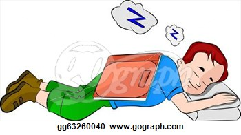 Falling Asleep While Studying Illustration  Stock Clip Art Gg63260040