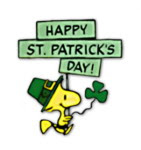 Girl  Printable Snoopy And Woodstock Peanuts Cartoon St  Patrick S Day