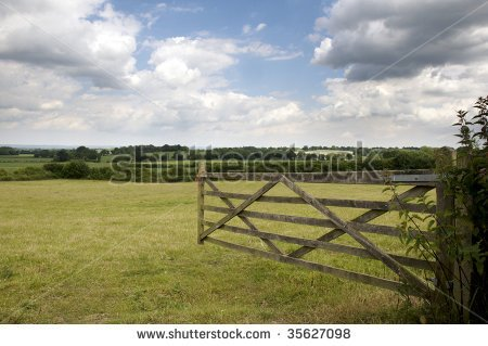 Open Farm Gate Clipart An Open Farm Gate Leading To A