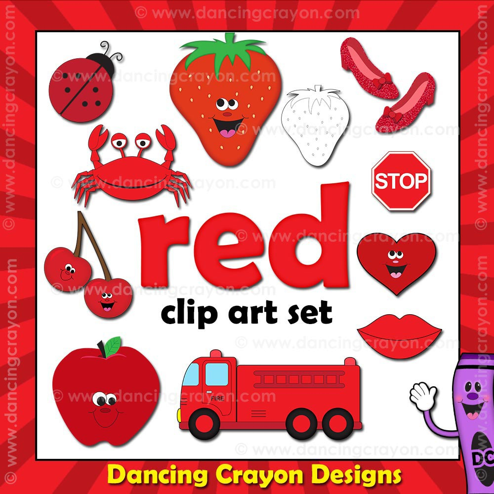 Red Things Clipart - Clipart Kid