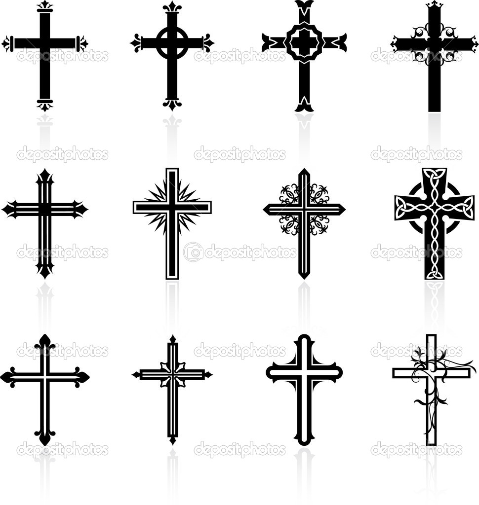 Religious Cross Design Collection   Stock Vector   Iconspro