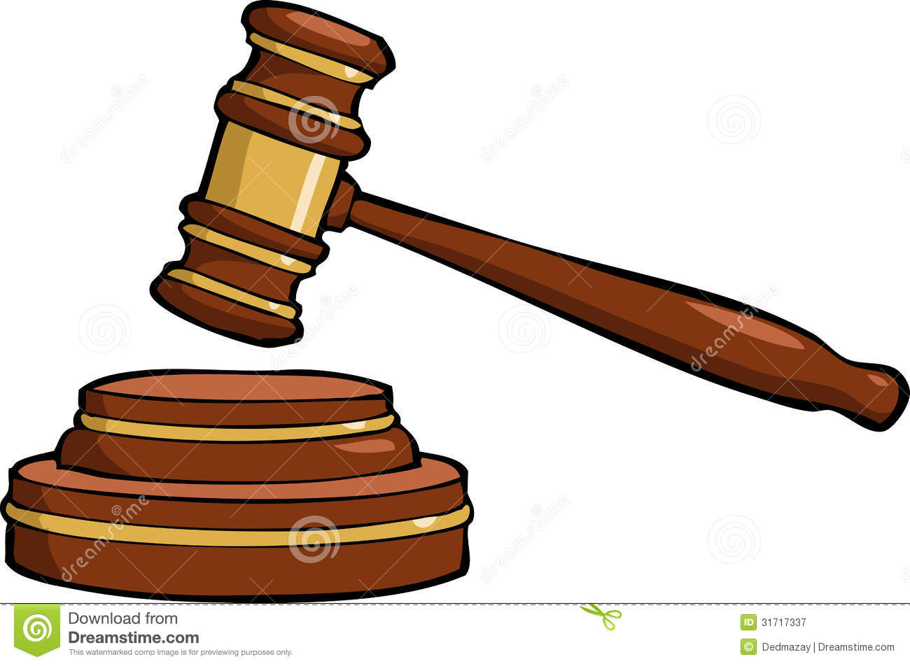 Royalty Free Stock Photography  Cartoon Gavel