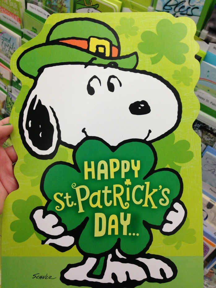 Image result for snoopy st patrick's day