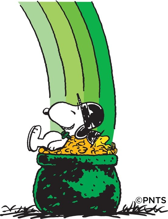 St  Patrick S Day   Snoopy And Woodstock S Nap On A Pot  O Gold   Clip