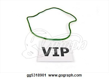Very Important Person  Vip  Pass Isolated On White  Clipart