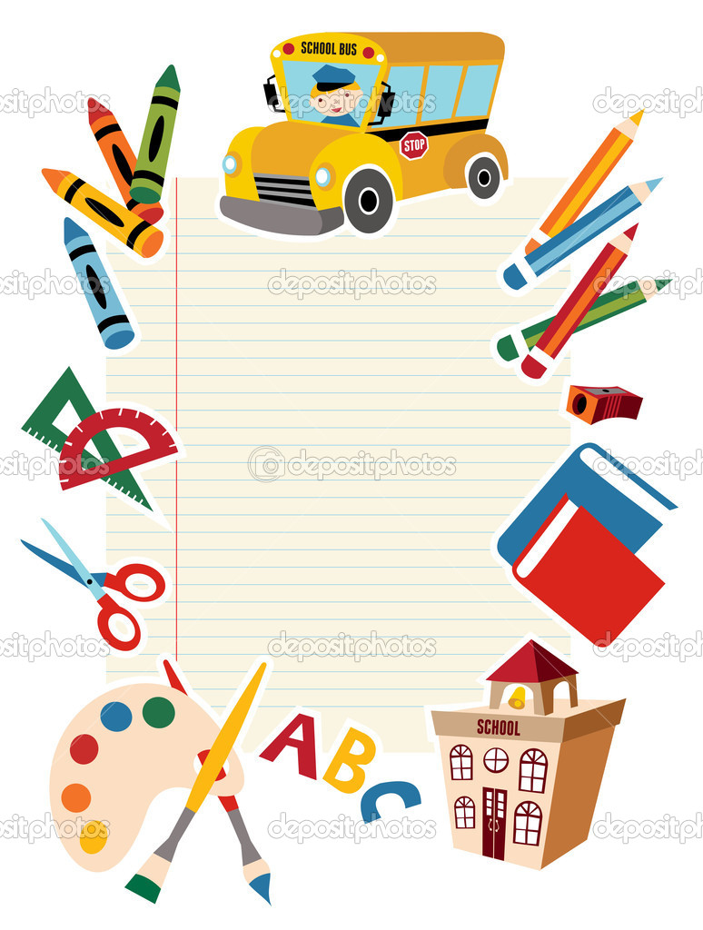 Back To School Supplies Clip Art Free