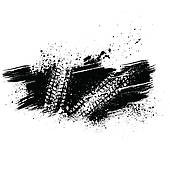 Black Tire Track Background   Clipart Graphic