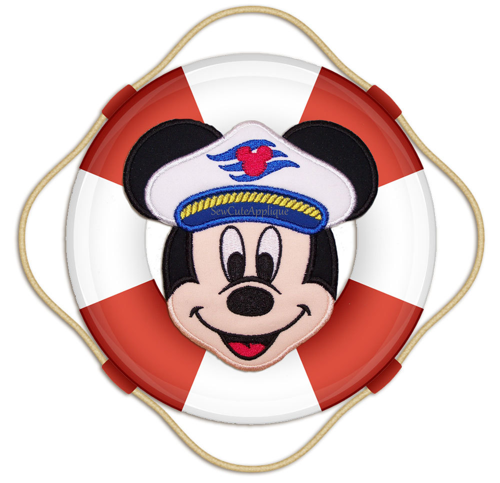 Cruise Mickey Mouse Face No Sew Applique Patch
