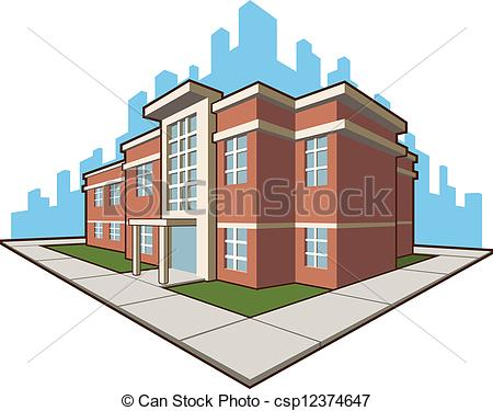 Eps Vector Of School Building   A Vector Set Of A School Building This