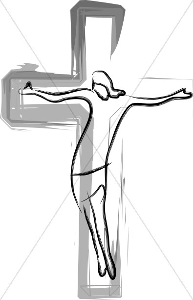 Jesus On The Cross Painted Abstract Simple Jesus With Cross