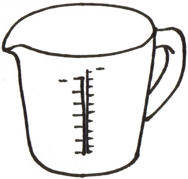 free measuring cup coloring pages - photo#40