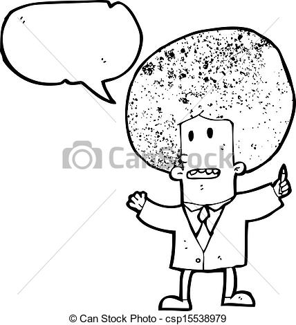 Of Cartoon Businessman With Big Afro Hair Csp15538979   Search Clipart