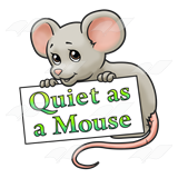 Quiet As A Mouse Clip Art Mouse Holding Sign - Clipart Kid