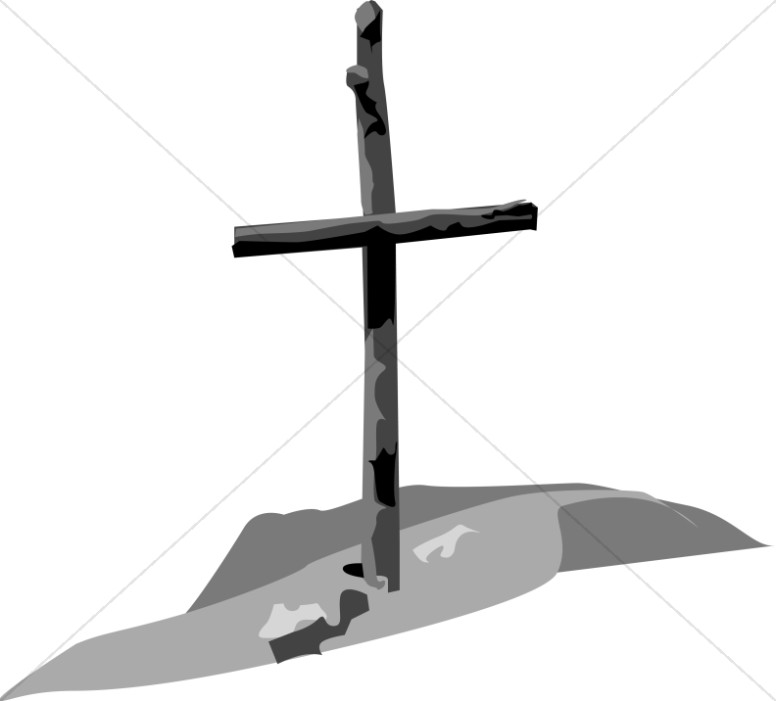 Shades Of Gray Wooden Cross   Cross Clipart
