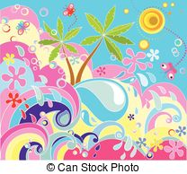 Summer Holiday Background Stock Illustration