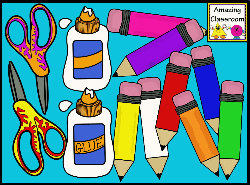 The Amazingclassroom Com Blog  School Supplies Mega Clip Art Pack