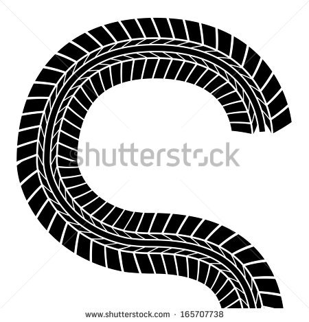 Tire Tracks Clip Art