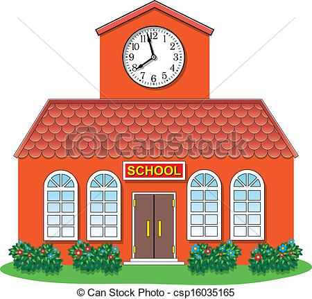 Vector   Vector Country School Building   Stock Illustration Royalty