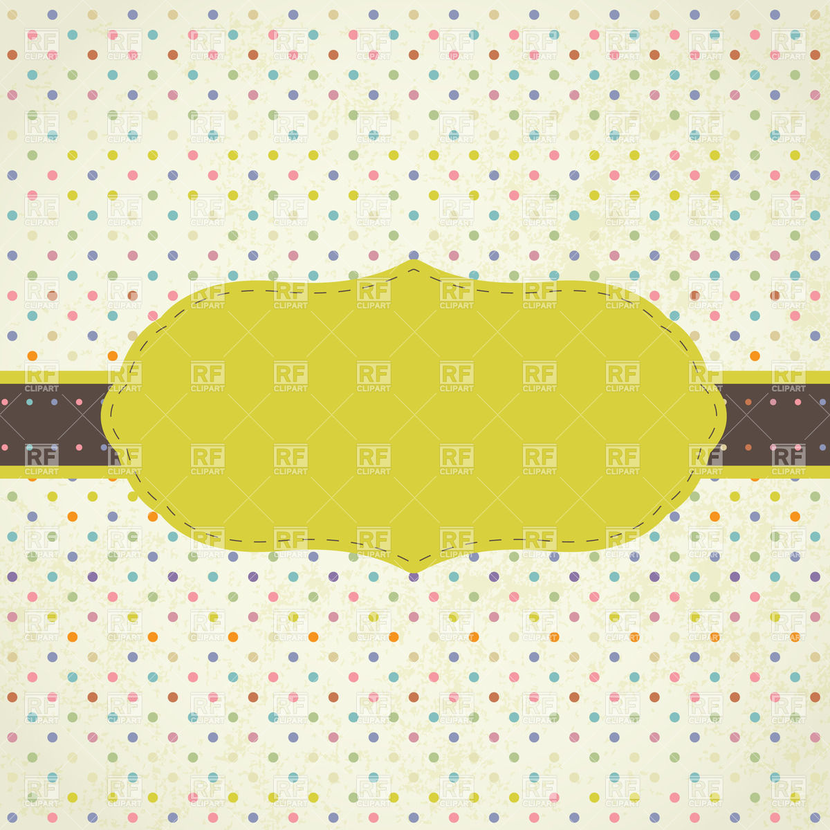 Yellow Frame On Grungy Polka Dot Background 21813 Borders And Frames