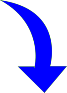 Curved Arrow Bright Blue Clip Art At Clker Com   Vector Clip Art
