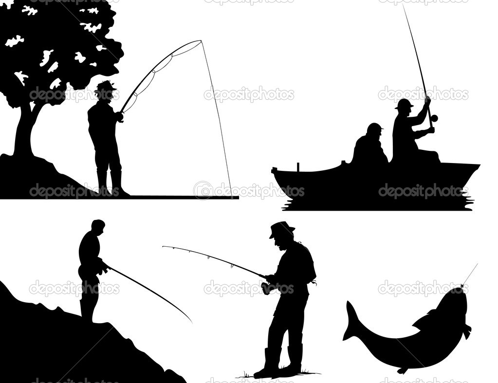 Man And Woman Fishing Clipart - Clipart Kid