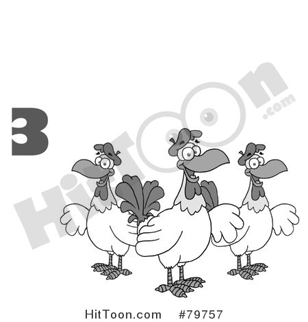French Hens Clipart French Hens Clipart  1