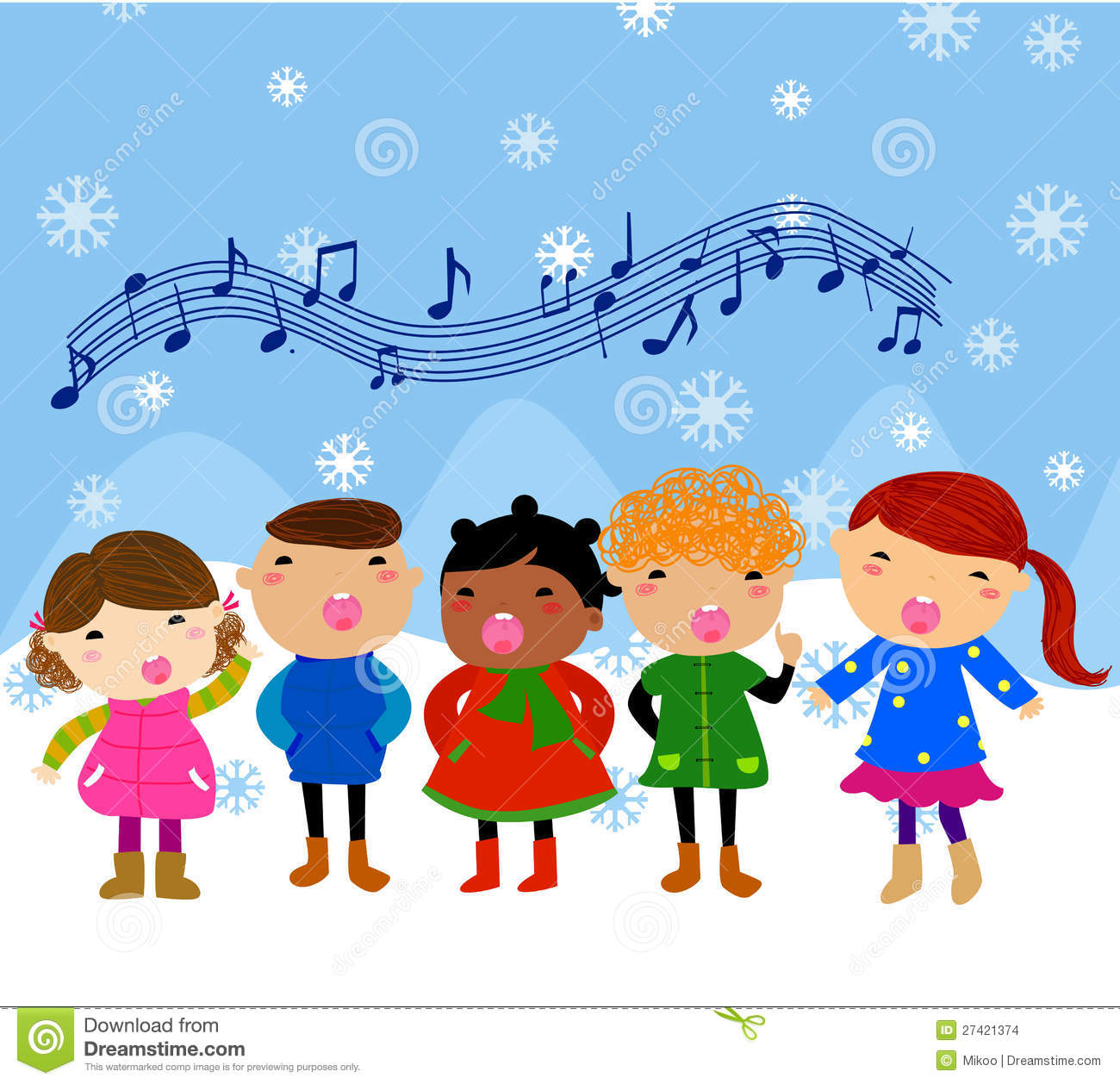 Students Singing Clipart - Clipart - 189.4KB
