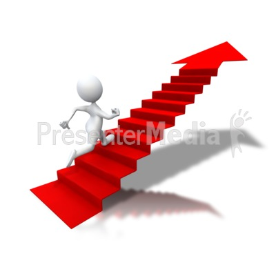 Running Up Arrow Stairs   Signs And Symbols   Great Clipart For