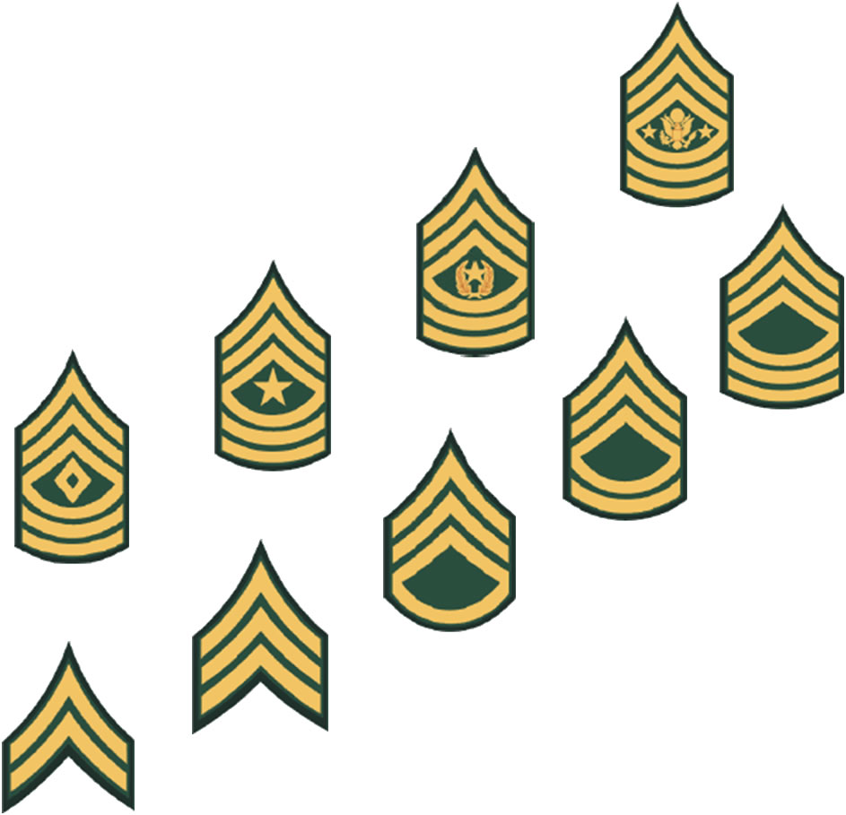 What are the ranks of the U.S. Army?