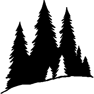 Winter forest silhouette clip art car tuning