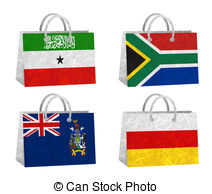 Bag Recycled Paper   Nation Flag Bag Recycled Paper On White