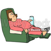 Clipart Lazy Girl