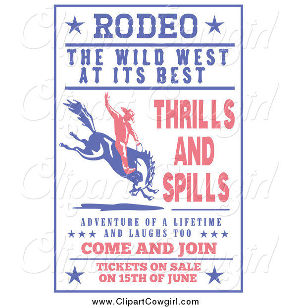 Clipart Of A Retro Rodeo Sign By Patrimonio    928