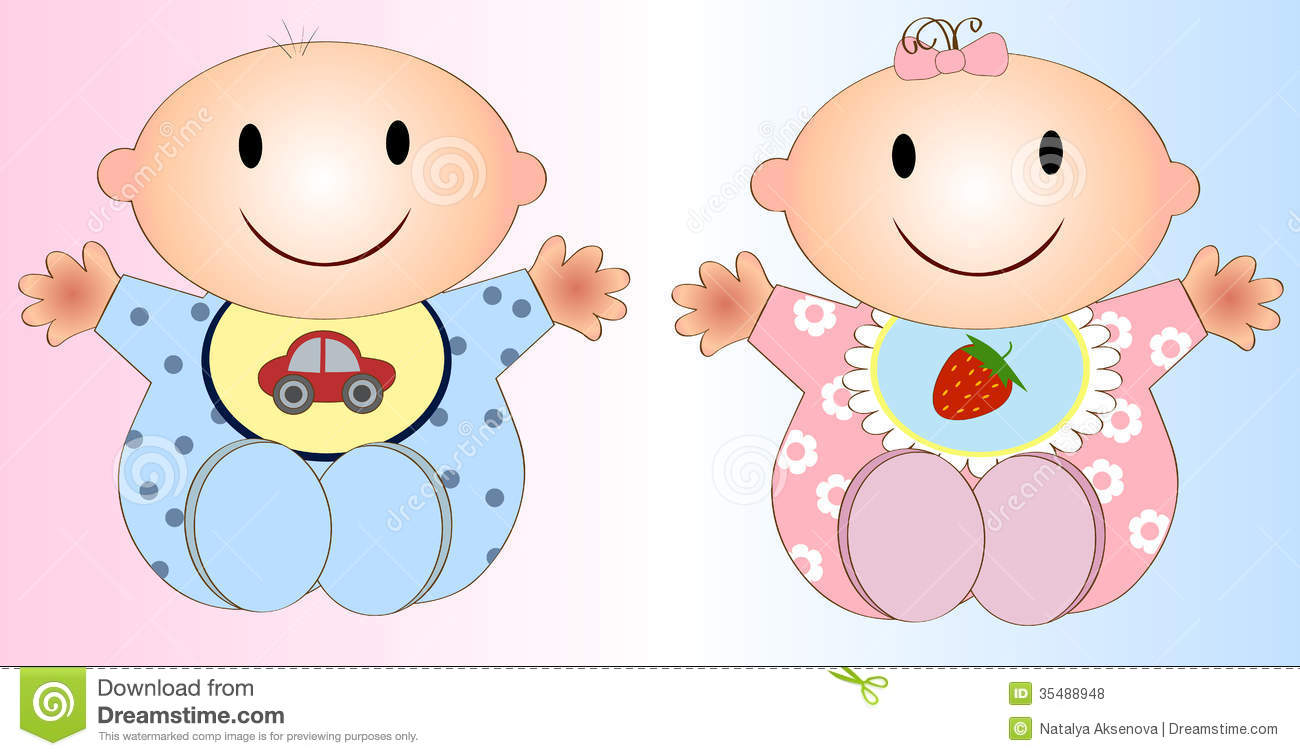 Two Babies Clipart - Clipart Kid