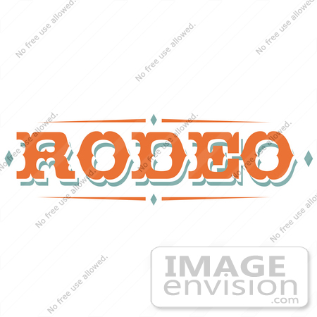 Free Cartoon Clip Art Of A Western Orange Rodeo Sign By Andy Nortnik