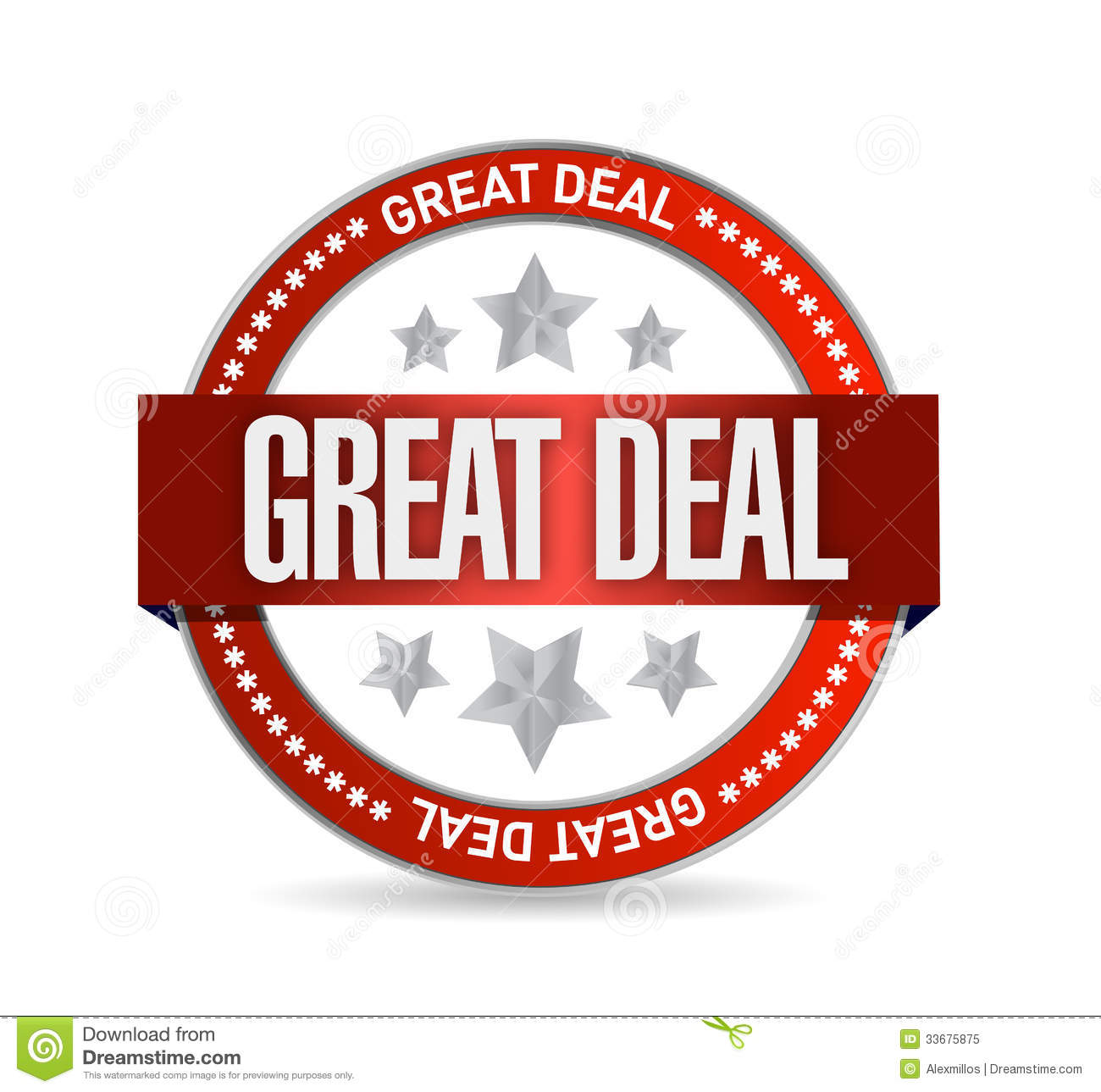 Great Deal Seal Illustration Design Royalty Free Stock Photo   Image