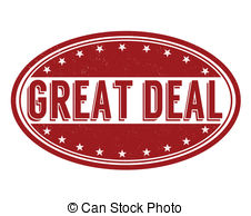 Great Deal Stamp   Great Deal Grunge Rubber Stamp On White