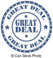 Great Deal Vector Clipart Royalty Free  244 Great Deal Clip Art Vector
