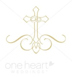 Ornate Cross Clipart   Religious Wedding Clipart