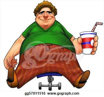 Pics Photos   Clip Art Of A Lazy Obese Man Sitting On A Couch Channel