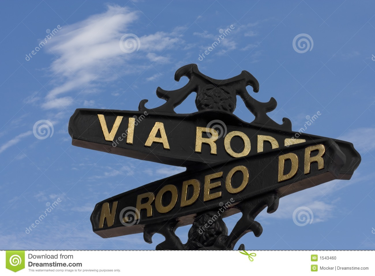 Rodeo Drive Street Sign  Beverly Hills   Main Place Attraction For