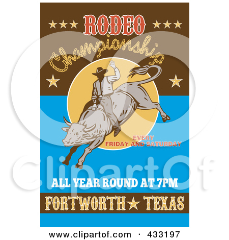 Royalty Free  Rf  Clipart Illustration Of A Retro Rodeo Sign   4 By