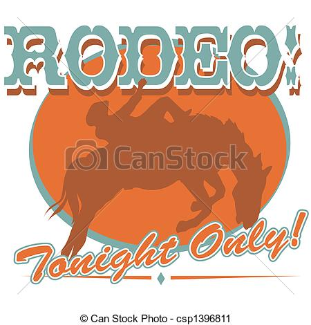 Vector Clip Art Of Rodeo Sign Clip Art Csp1396811   Search Clipart