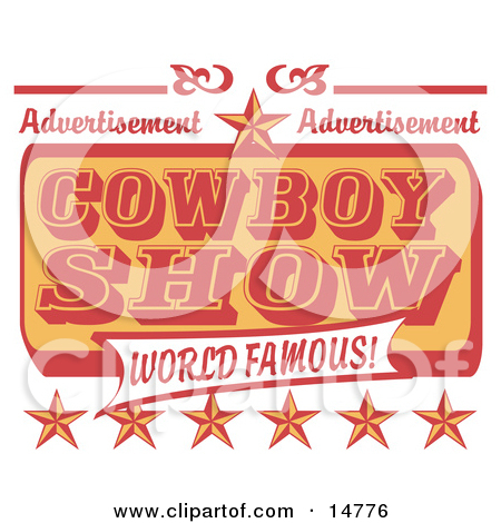 Vintage Rodeo Sign With A Star Clipart Illustration