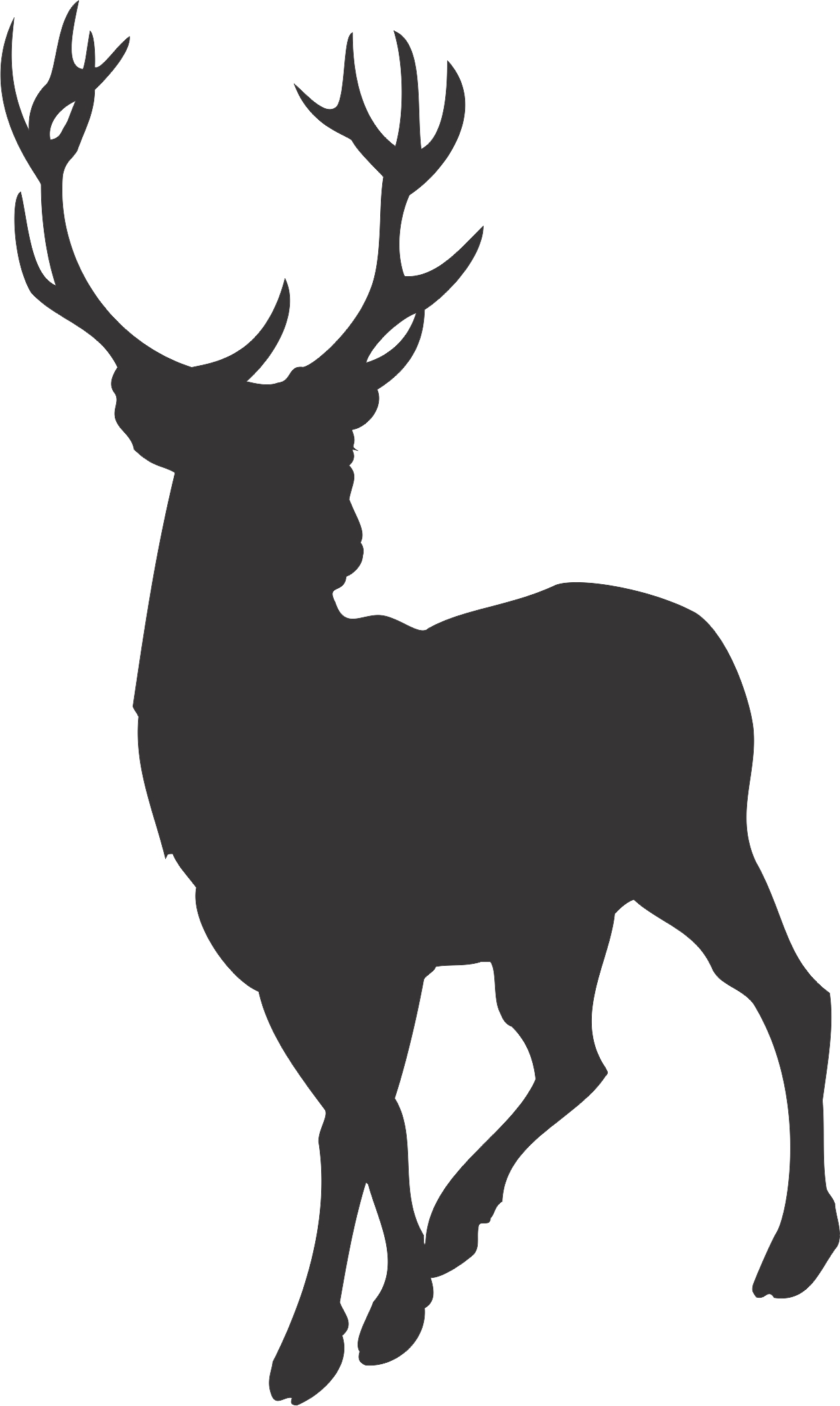 19 Stag Head Silhouette Vector Free Cliparts That You Can Download To