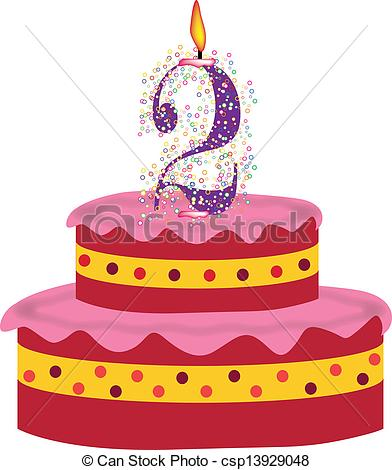 2nd Birthday Cake Clipart Gallery For
