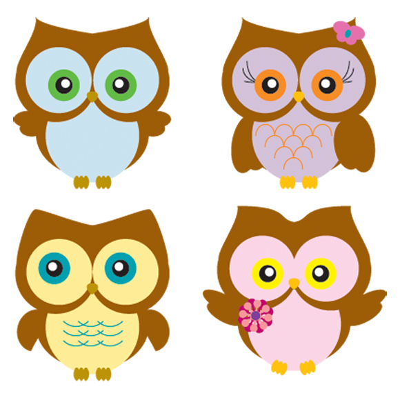 Download Four Owls Vector For Free