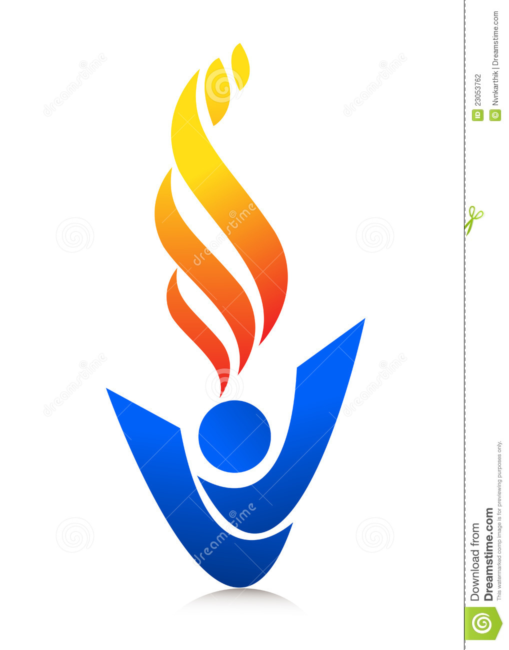 Flame Logo Stock Photography   Image  23053762