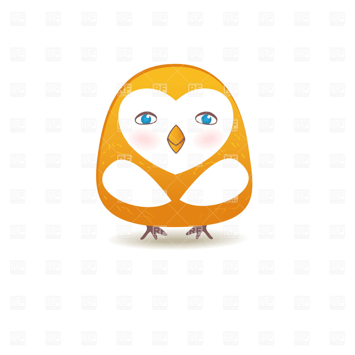 Funny Owl   Cute Bird Character Download Royalty Free Vector Clipart
